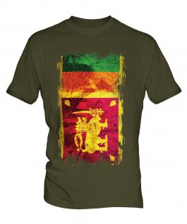 Sri Lanka Grunge Flag Mens T-Shirt