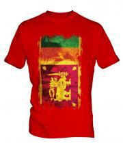 Sri Lanka Grunge Flag Mens T-Shirt
