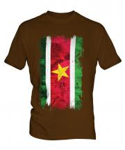 Suriname Grunge Flag Mens T-Shirt