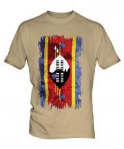 Swaziland Grunge Flag Mens T-Shirt