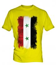 Syria Grunge Flag Mens T-Shirt