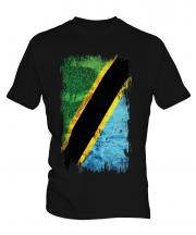 Tanzania Grunge Flag Mens T-Shirt