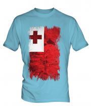 Tonga Grunge Flag Mens T-Shirt