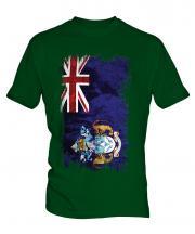 Tristan Da Cunha Grunge Flag Mens T-Shirt