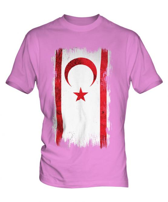 Turkish Republic Of Northern Cyprus Grunge Flag Mens T-Shirt