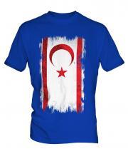 Turkish Republic Of Northern Cyprus Grunge Flag Mens T-Shirt