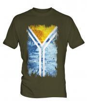 Tuva Grunge Flag Mens T-Shirt