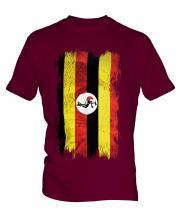 Uganda Grunge Flag Mens T-Shirt