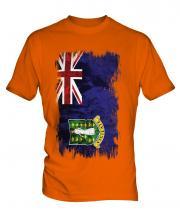 Uk Virgin Islands Grunge Flag Mens T-Shirt