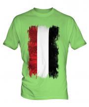 Yemen Grunge Flag Mens T-Shirt