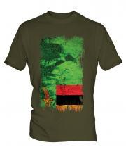 Zambia Grunge Flag Mens T-Shirt