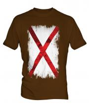 Alabama State Grunge Flag Mens T-Shirt