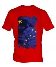 Alaska State Grunge Flag Mens T-Shirt