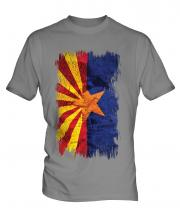 Arizona State Grunge Flag Mens T-Shirt