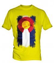 Colorado State Grunge Flag Mens T-Shirt