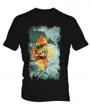 Delaware State Grunge Flag Mens T-Shirt