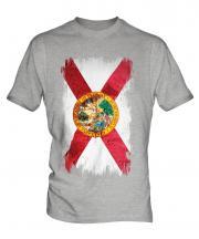 Florida State Grunge Flag Mens T-Shirt