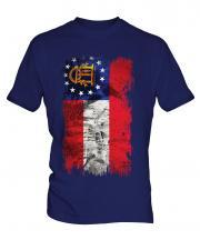 Georgia State Grunge Flag Mens T-Shirt