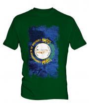 Kentucky State Grunge Flag Mens T-Shirt