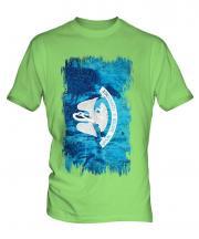 Louisiana State Grunge Flag Mens T-Shirt