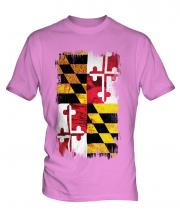 Maryland State Grunge Flag Mens T-Shirt