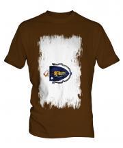 Massachusetts State Grunge Flag Mens T-Shirt