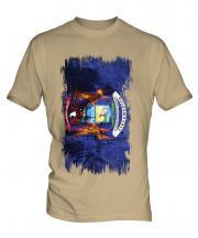 Michigan State Grunge Flag Mens T-Shirt