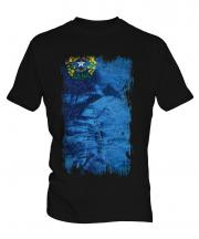 Nevada State Grunge Flag Mens T-Shirt