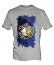 New Hampshire State Grunge Flag Mens T-Shirt
