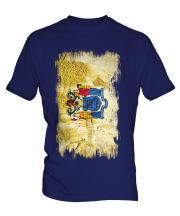 New Jersey State Grunge Flag Mens T-Shirt