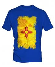 New Mexico State Grunge Flag Mens T-Shirt