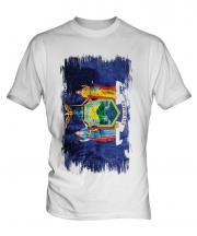 New York State Grunge Flag Mens T-Shirt