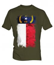 North Carolina State Grunge Flag Mens T-Shirt