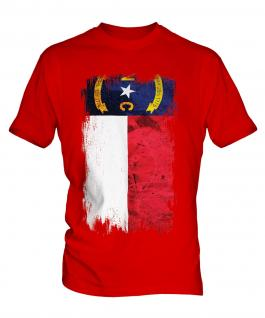 North Carolina State Grunge Flag Mens T-Shirt