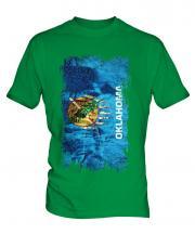 Oklahoma State Grunge Flag Mens T-Shirt