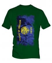 Oregon State Grunge Flag Mens T-Shirt