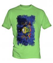 Pennsylvania State Grunge Flag Mens T-Shirt