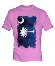 South Carolina State Grunge Flag Mens T-Shirt