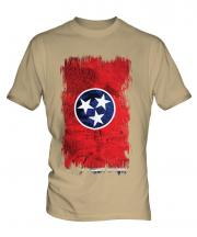 Tennessee State Grunge Flag Mens T-Shirt