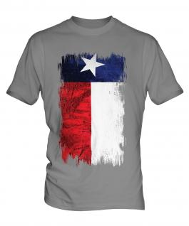 Texas State Grunge Flag Mens T-Shirt