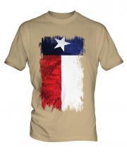 Texas State Grunge Flag Mens T-Shirt