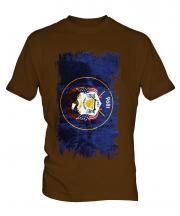Utah State Grunge Flag Mens T-Shirt