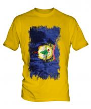 Vermont State Grunge Flag Mens T-Shirt