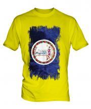 Virginia State Grunge Flag Mens T-Shirt