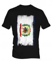 West Virginia State Grunge Flag Mens T-Shirt