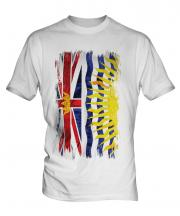 British Columbia Grunge Flag Mens T-Shirt