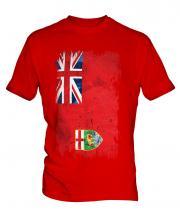 Manitoba Grunge Flag Mens T-Shirt