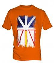 Newfoundland And Labrador Grunge Flag Mens T-Shirt