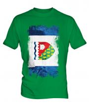 Northwest Territories Grunge Flag Mens T-Shirt
