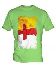 Nunavut Grunge Flag Mens T-Shirt